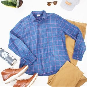 Faherty Long Sleeve Plaid Button Up Shirt